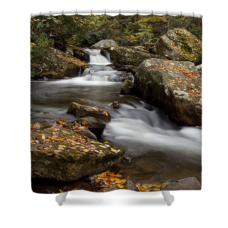Water Shower Curtain featuring the photograph Stony Creek Falls by Amy Jackson