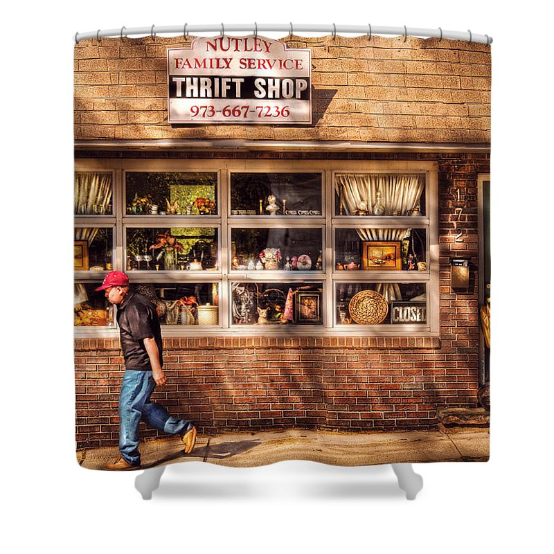 Savad Shower Curtain featuring the photograph Store - The Thrift Shop by Mike Savad