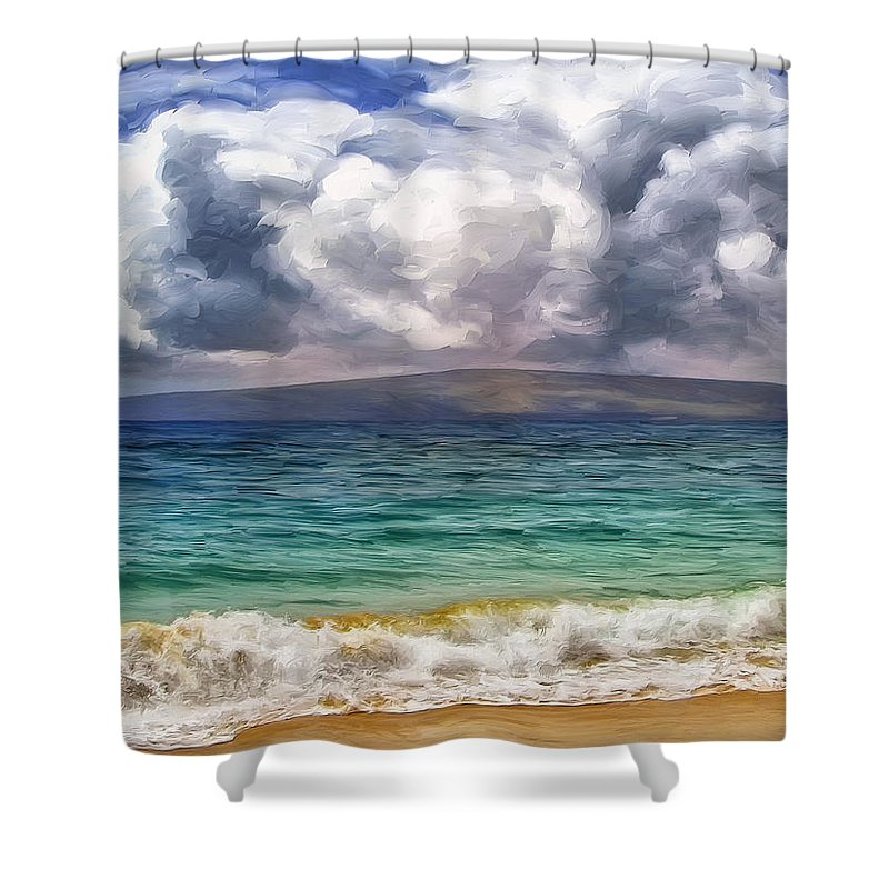 Storm Shower Curtain featuring the painting Storm Across The Channel by Dominic Piperata