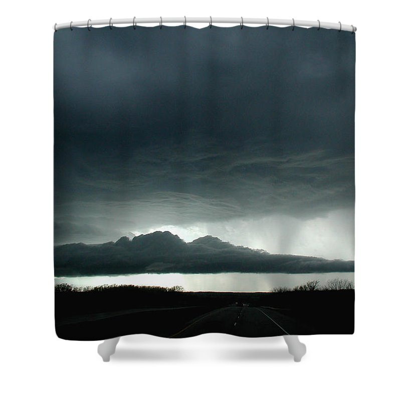 Admore Shower Curtain featuring the photograph Storm At Admore by D'Arcy Evans