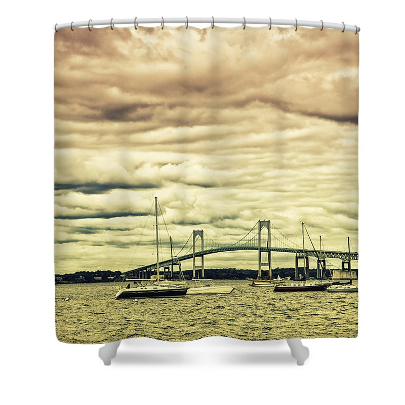 Coastal Shower Curtain featuring the photograph Storm Brewing In Newport by Karol Livote