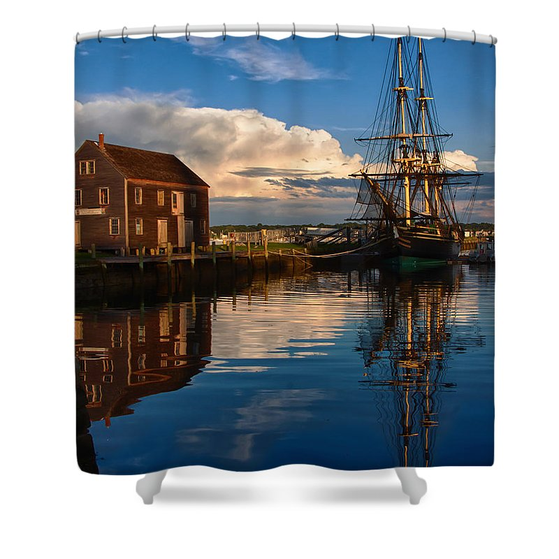 Salem Shower Curtain featuring the photograph Storm Clearing Friendship by Jeff Folger