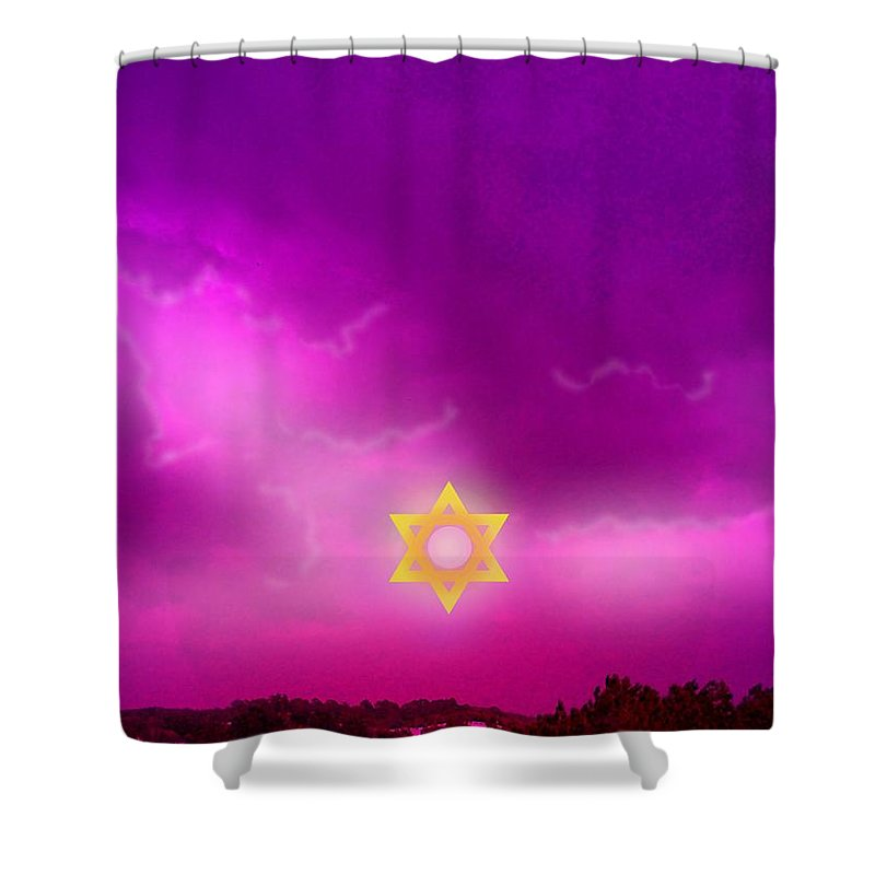 Jerusalem Shower Curtain featuring the photograph Storm Clouds Gather Over Jerusalem by George Pedro