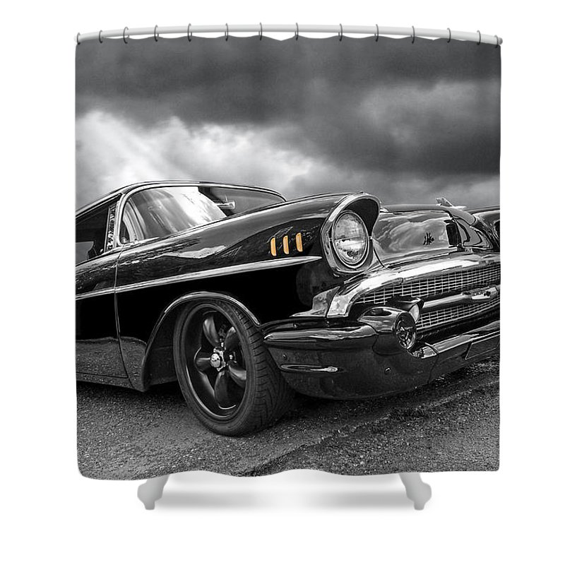 Classic Chevy Shower Curtain Featuring The Photograph Storm Cruiser
