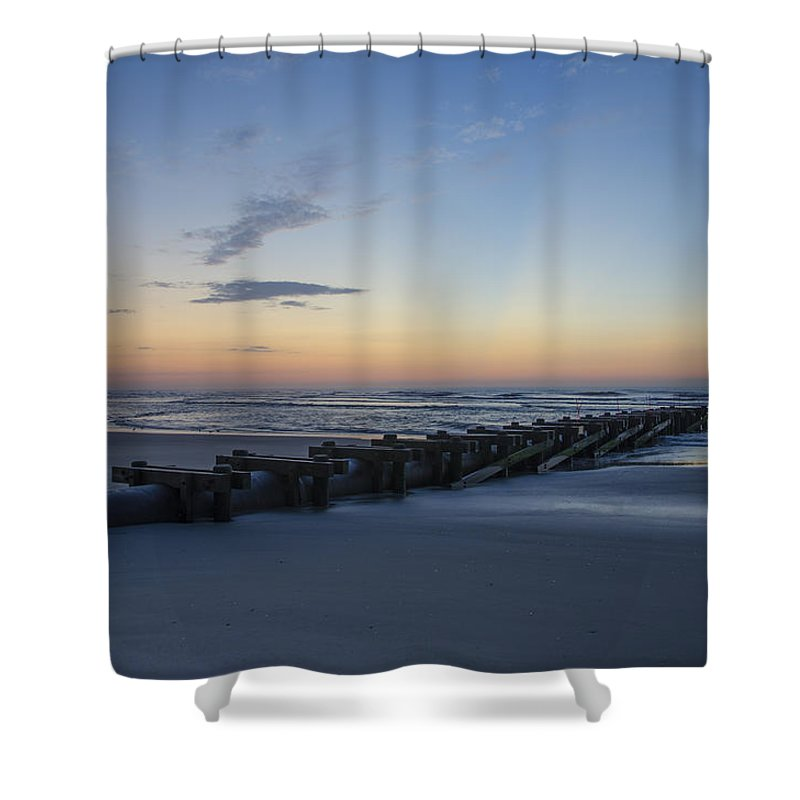 Storm Shower Curtain featuring the photograph Storm Drain - North Wildwood by Bill Cannon