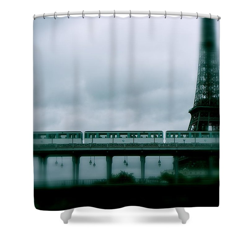Paris Shower Curtain featuring the photograph Storm Over Paris by Ira Shander