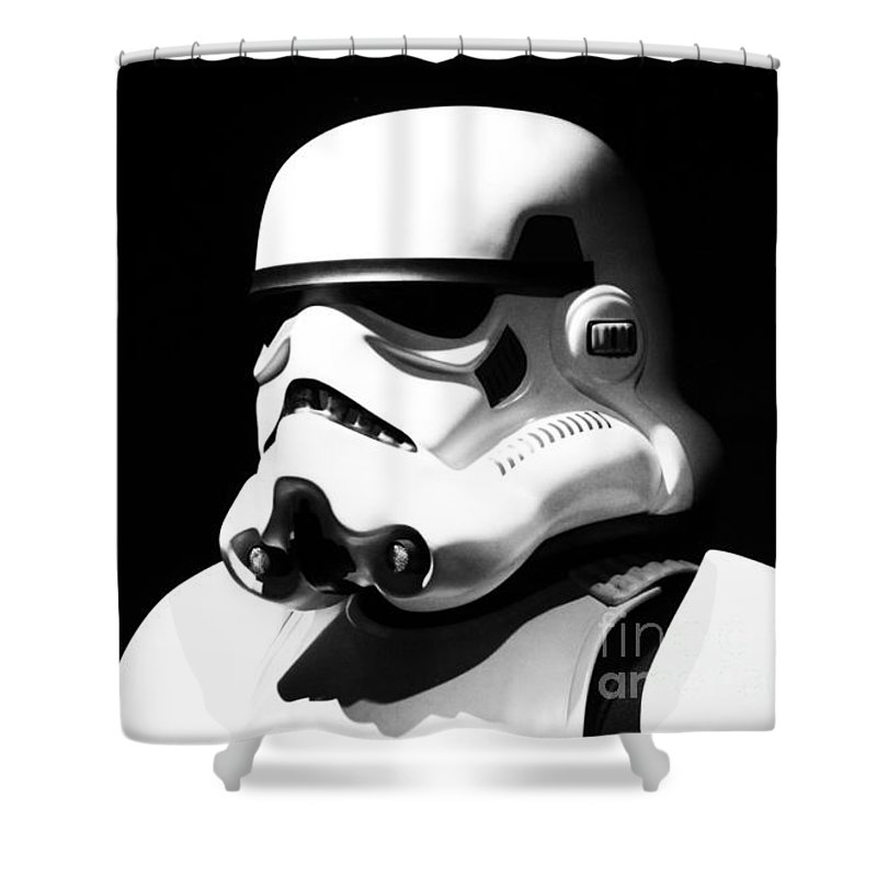 Star Wars Shower Curtain Featuring The Photograph Stormtrooper By Chris Thomas