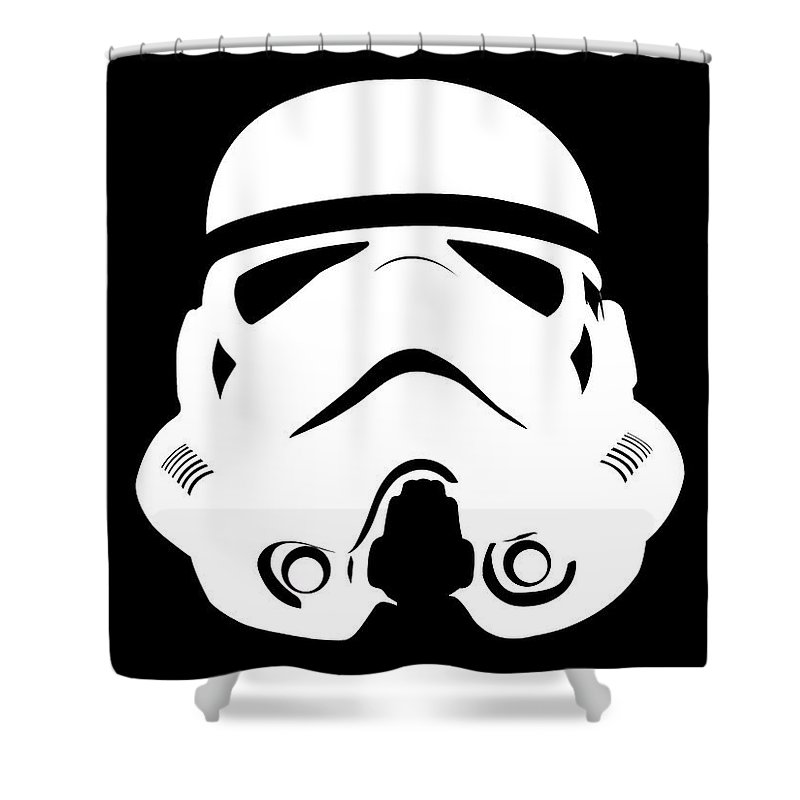 Imperial Stormtrooper Shower Curtain Featuring The Digital Art By Nathan Shegrud