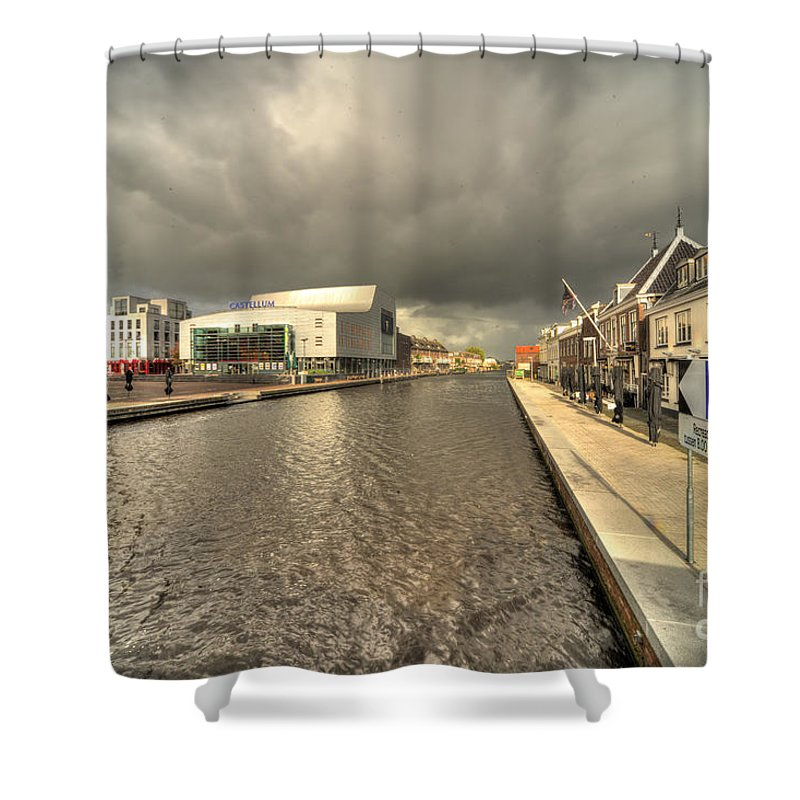 Alphen Aan Den Rijn Shower Curtain featuring the photograph Stormy Day At Alphen Aan Den Rijn by Rob Hawkins