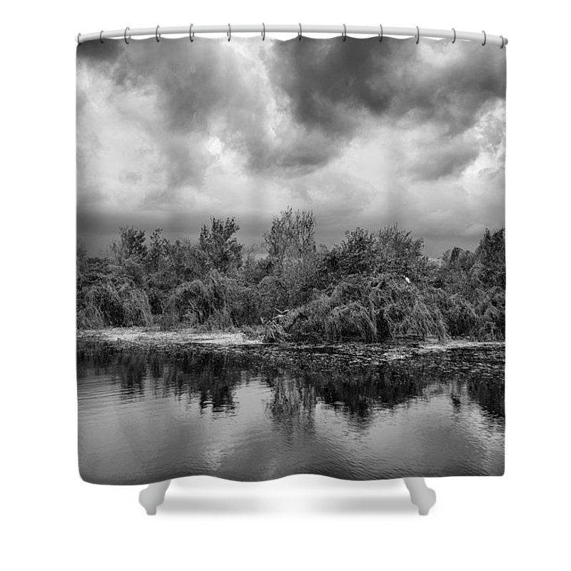 Lake Trafford Shower Curtain featuring the photograph Stormy Lake Trafford by Carolyn Marshall