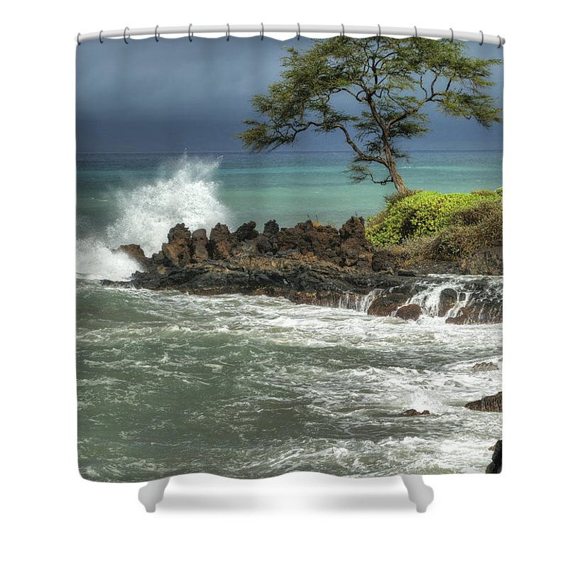 Waterscape Shower Curtain featuring the photograph Stormy Maui Morning by Sandra Bronstein