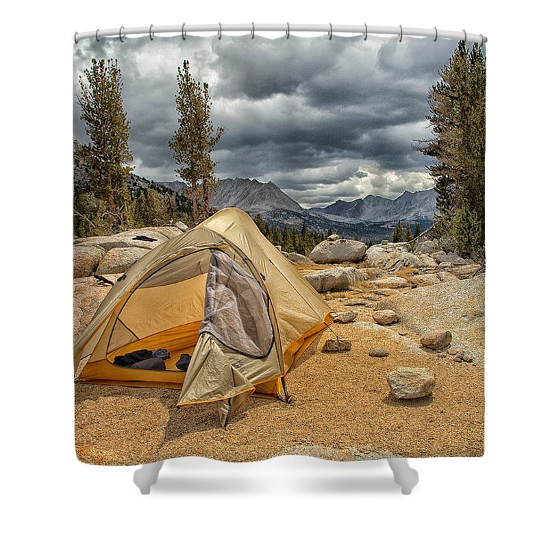 John Muir Trail Shower Curtain featuring the photograph Stormy Night by Shauna Milton