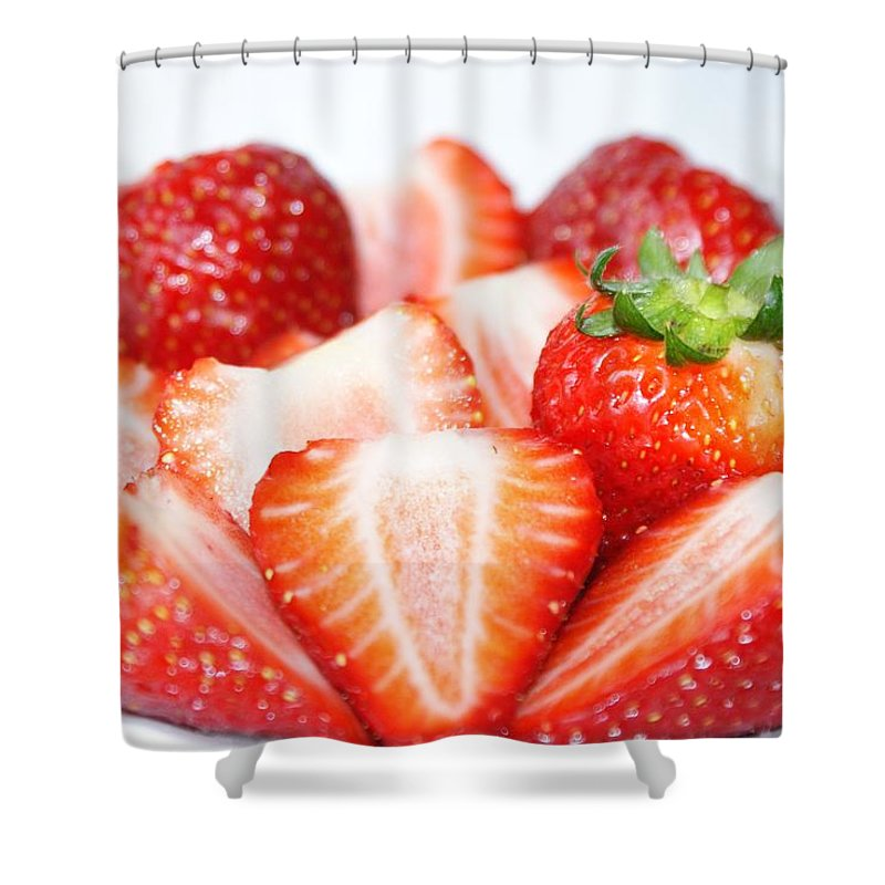 Strawberries Shower Curtain featuring the photograph Strawberries by FL collection