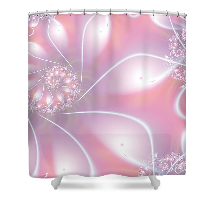 Strawberry Creme Shower Curtain featuring the digital art Strawberry Creme by Kimberly Hansen