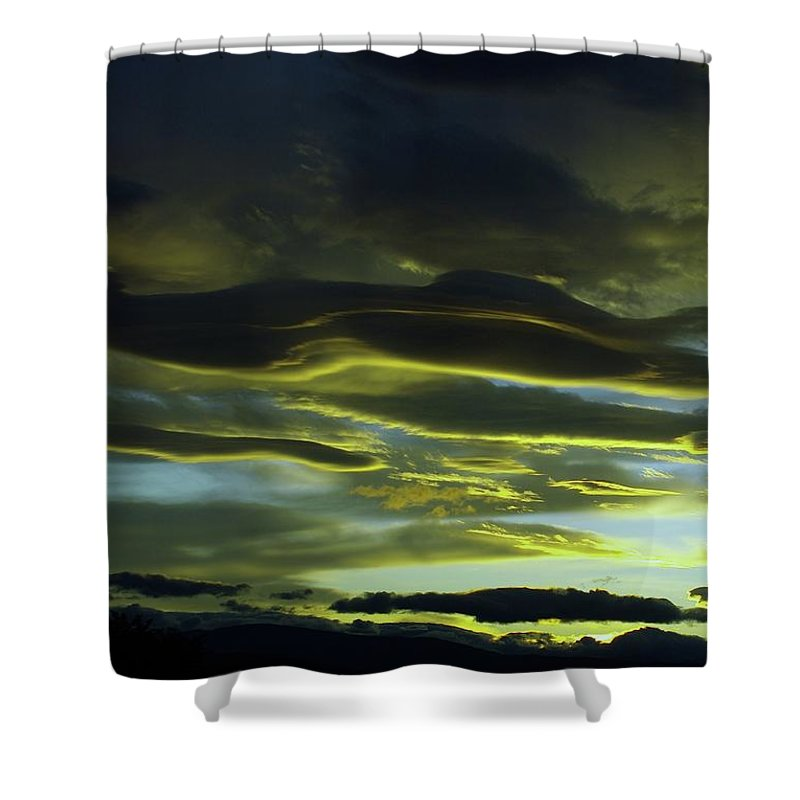 Clouds Shower Curtain featuring the photograph Streaming Clouds by Jeff Swan