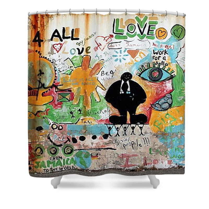 Mural Shower Curtain featuring the photograph Street Mural At Liguanea by Laurel Talabere