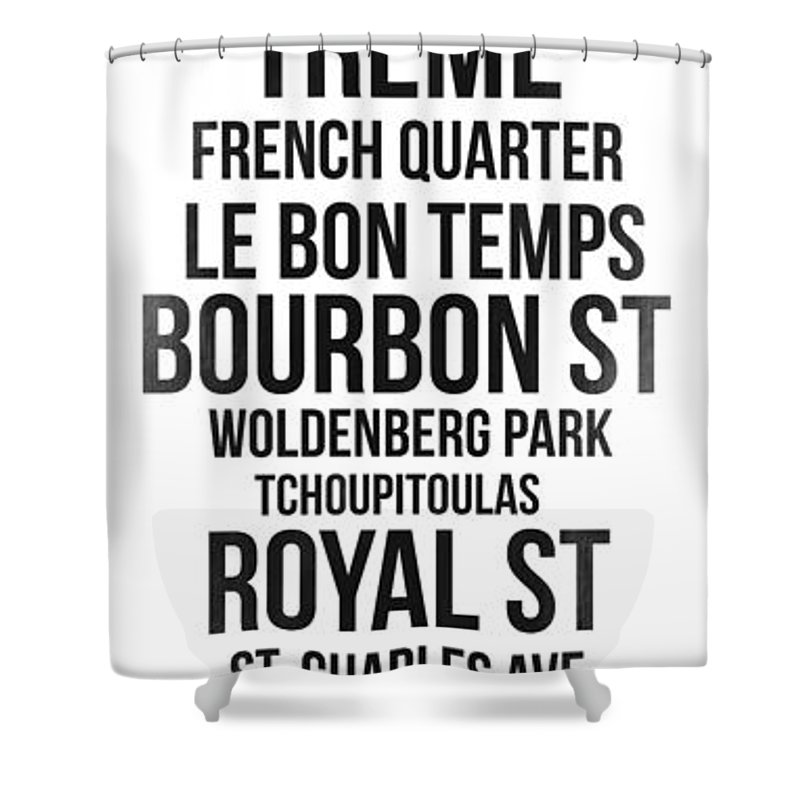 New Orleans Shower Curtain featuring the digital art Streets Of New Orleans 3 by Naxart Studio