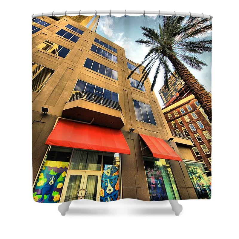 Cityscape Shower Curtain featuring the photograph Streets Of Nola by Robert McCubbin