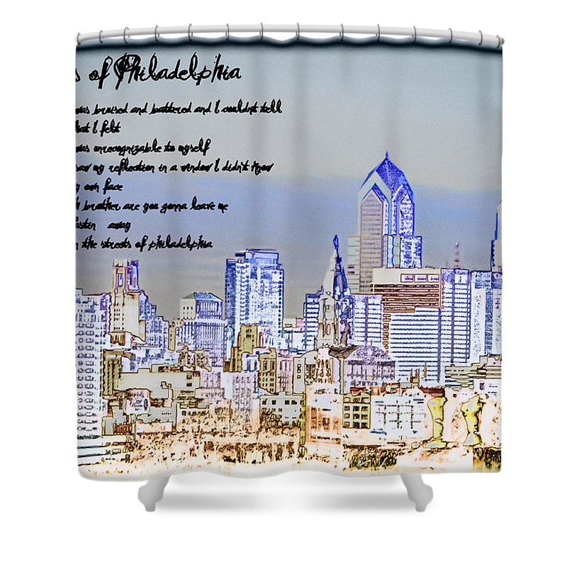Streets Of Philadelphia Shower Curtain featuring the photograph Streets Of Philadelphia by Bill Cannon
