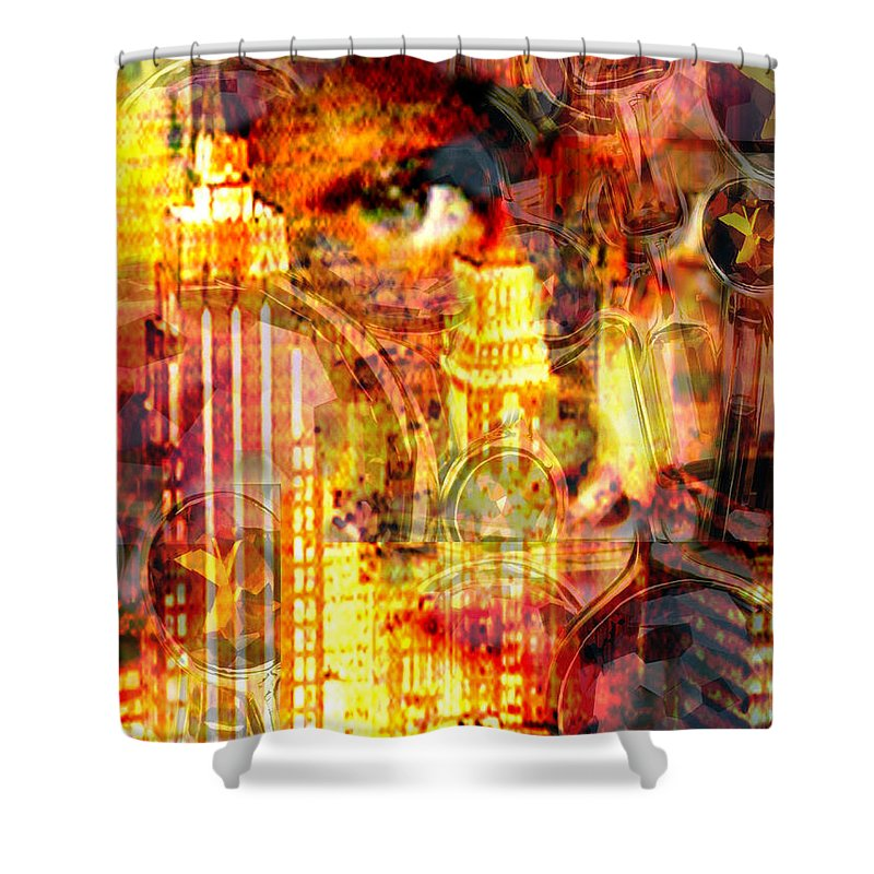 Big City Shower Curtain featuring the photograph Streetwalker by Seth Weaver