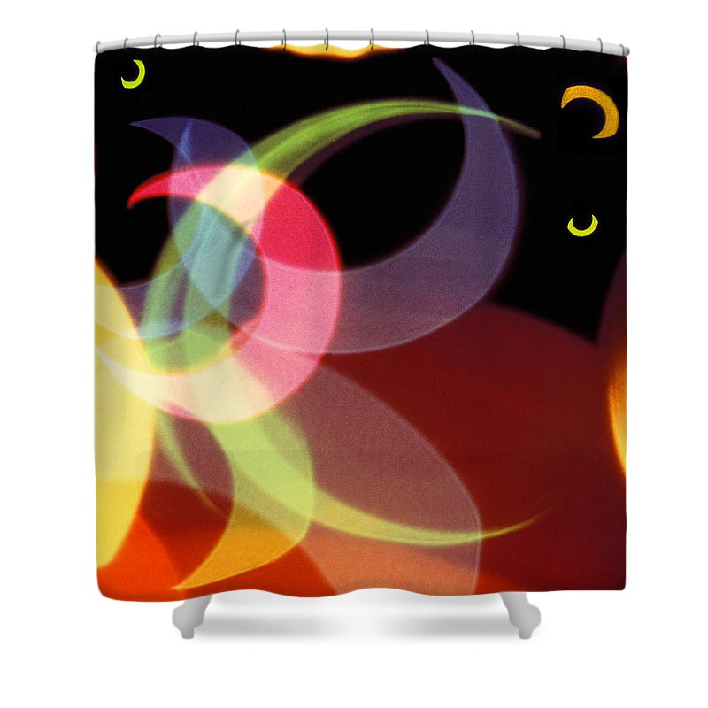 Abstract Shower Curtain featuring the photograph String Of Lights 1 by Mike McGlothlen
