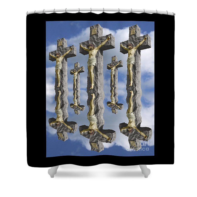 Digital Art Shower Curtain featuring the digital art String Theory by Keith Dillon