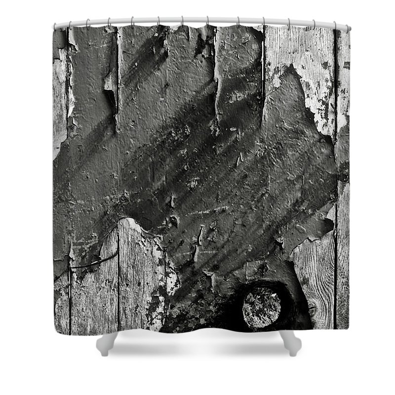 Old Shower Curtain featuring the photograph Stripping Hull Of An Old Abandoned Ship by RicardMN Photography