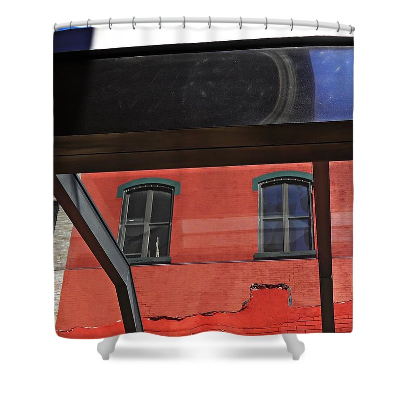 Abstract Shower Curtain featuring the photograph Structural Abstract 3 by Sarah Loft