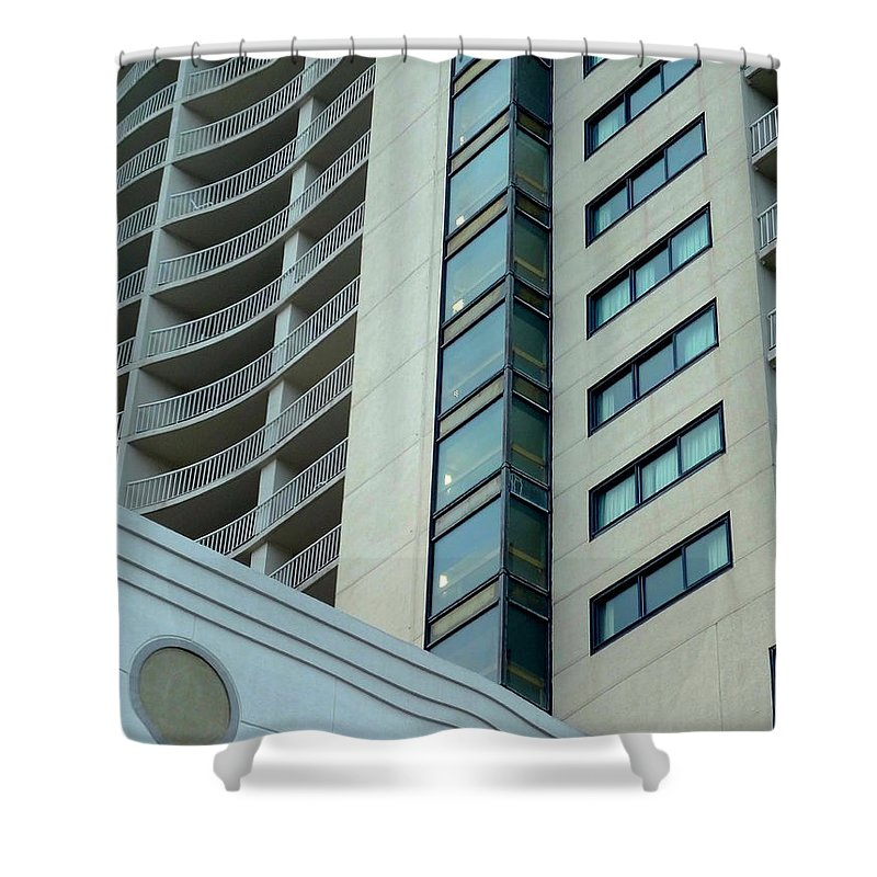 Structure Shower Curtain featuring the photograph Structural Symmetry by Deborah Crew-Johnson