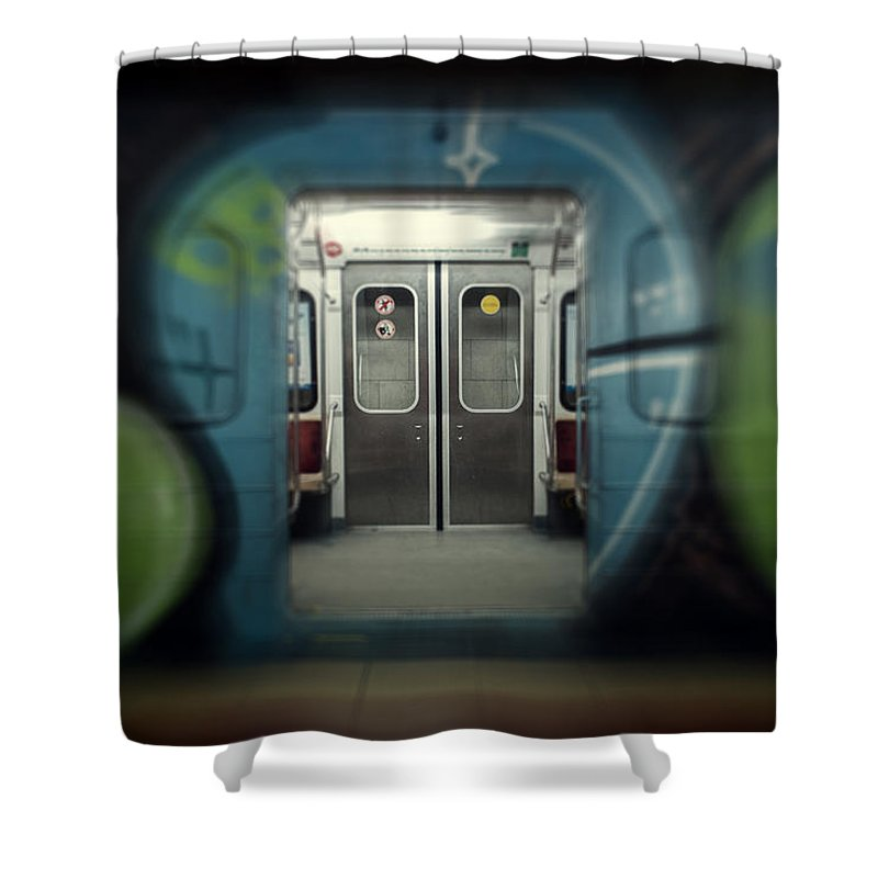 Subway Shower Curtain featuring the photograph Sub-way Of Art IIi by Santiago Tomas Gutiez