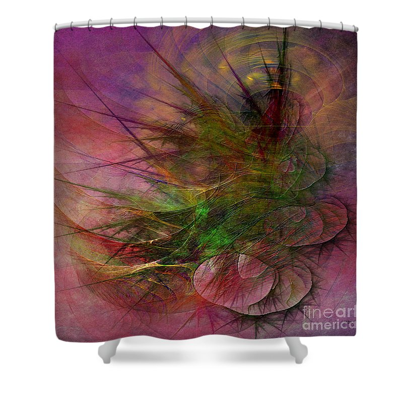 Subtle Echoes Shower Curtain featuring the digital art Subtle Echoes - Square Version by John Beck