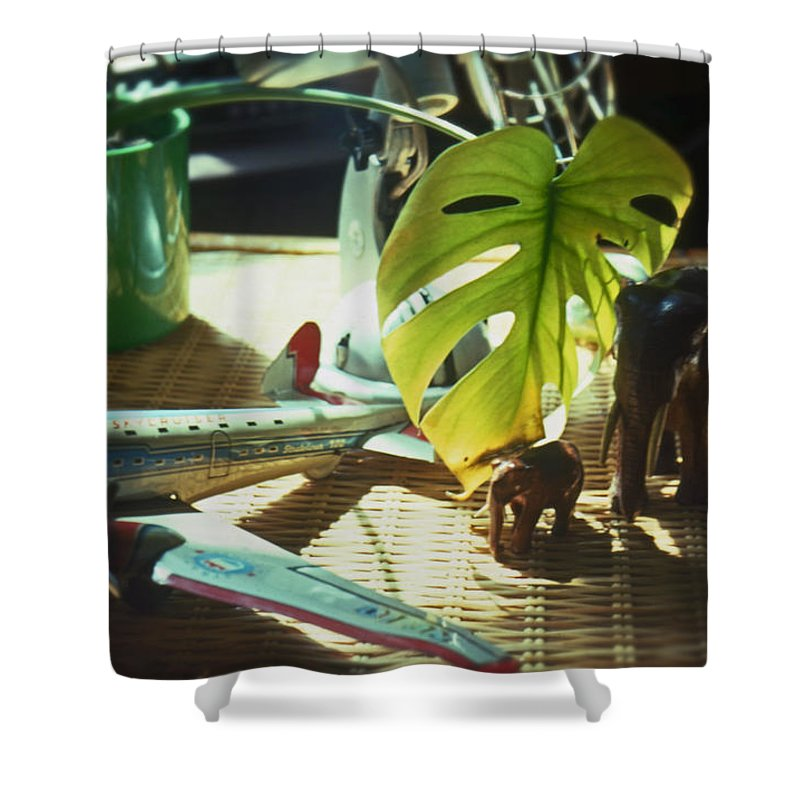 Suburban Shower Curtain featuring the painting Suburban Safari Original by Charles Stuart