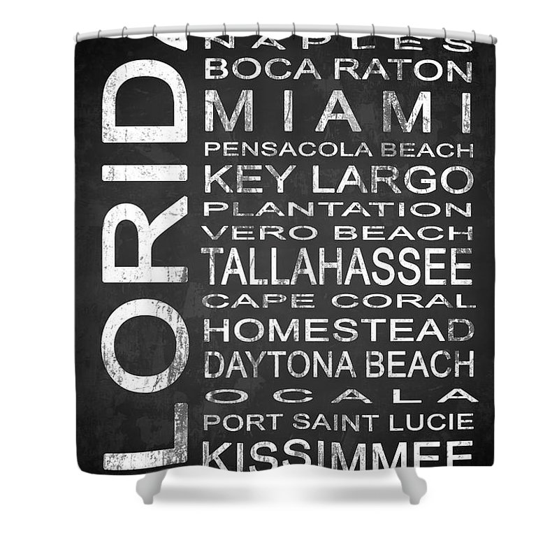 Subway Sign Shower Curtain Featuring The Digital Art Florida State 2 By Melissa Smith