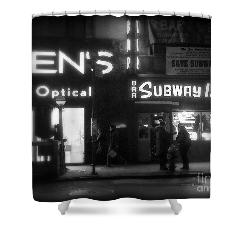 Travel Photography Shower Curtain featuring the photograph Subway Inn - Vanishing Places Of New York by Miriam Danar