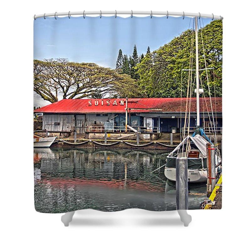 Dan Sabin Shower Curtain featuring the photograph Suisan Fish Market by Dan Sabin