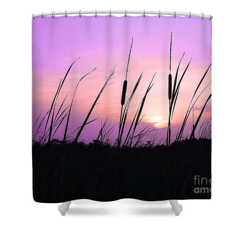 Sunset Shower Curtain featuring the photograph Sultry Sunset by Al Powell Photography USA