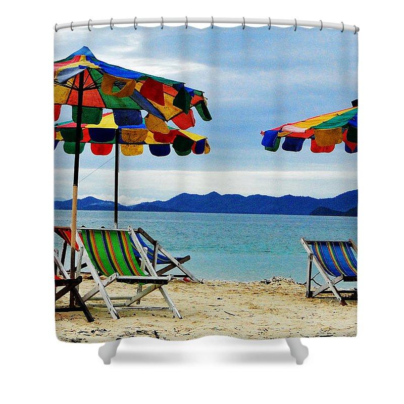 Thailand Shower Curtain featuring the photograph Summer I N Thailand by Ben Yassa