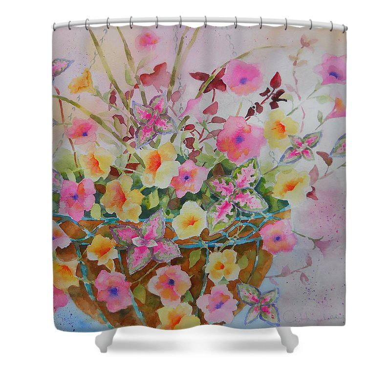 Flowers Shower Curtain featuring the painting Summer Joy by Amy Householder
