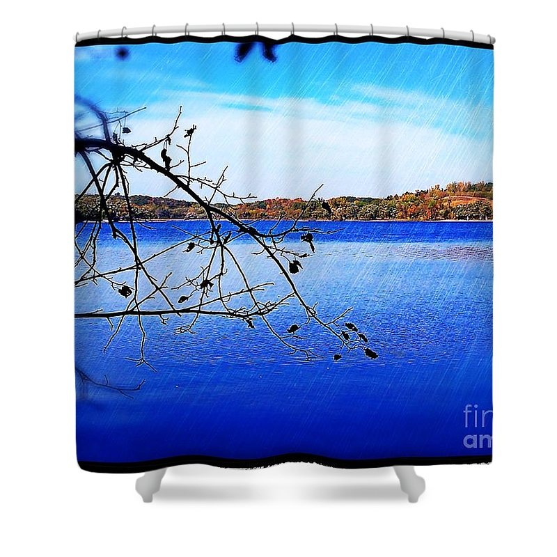 Lake Shower Curtain featuring the photograph Summer Lake by Perry Webster