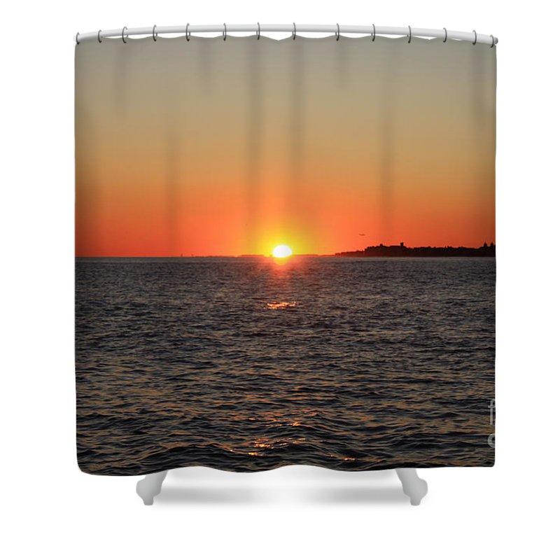 Summer Sunset Shower Curtain featuring the photograph Summer Sunset by John Telfer