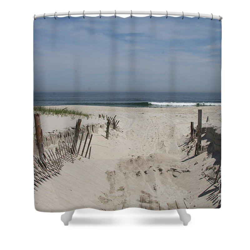 Beach Shower Curtain featuring the photograph Sun And Sand by Christiane Schulze Art And Photography