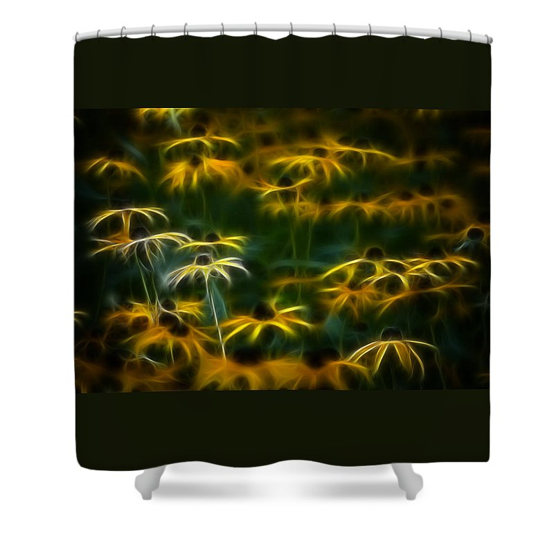 Color Shower Curtain featuring the photograph Sun Dancers by Timothy Bischoff