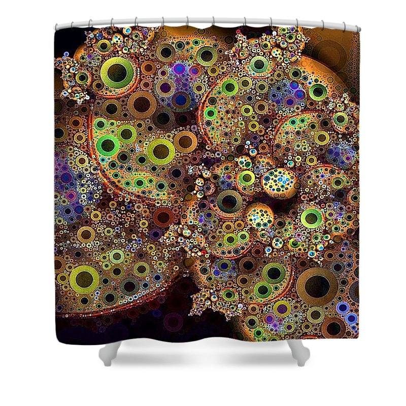 Collage Shower Curtain featuring the digital art Sun Dogs by Ron Bissett