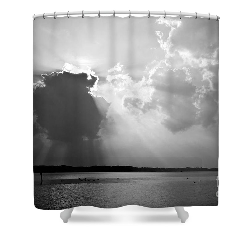 Sun Shower Curtain featuring the photograph Sun Rays by Benjamin Reed