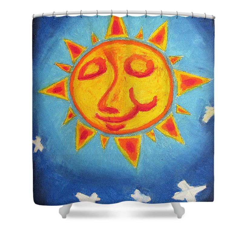 Sun Shower Curtain featuring the painting Sunday Morning by William Bryant