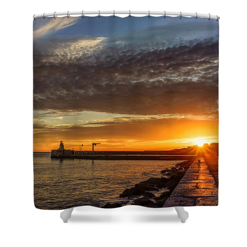 Sunset Shower Curtain featuring the photograph Sundown by Marco Oliveira