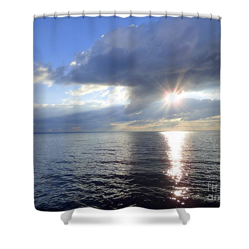 Lake Shower Curtain featuring the photograph Sunlight Reflections by Rennae Christman