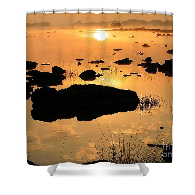 Lough Corrib Shower Curtain featuring the photograph Sunrise by Brothers Beerens