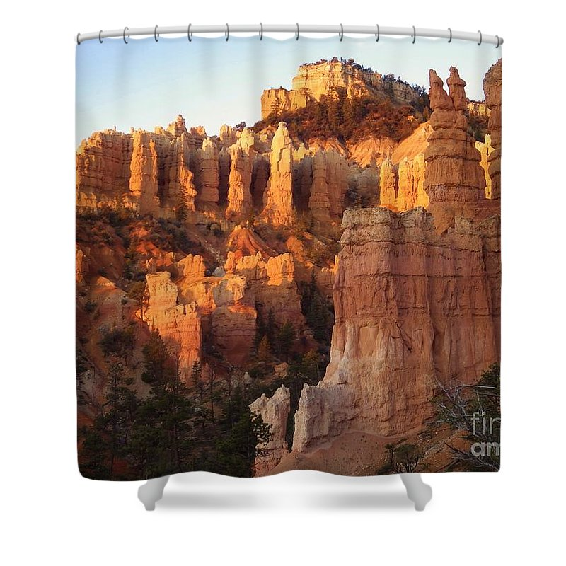 Sunrise Shower Curtain featuring the photograph Sunrise In Bryce by Tonya Hance