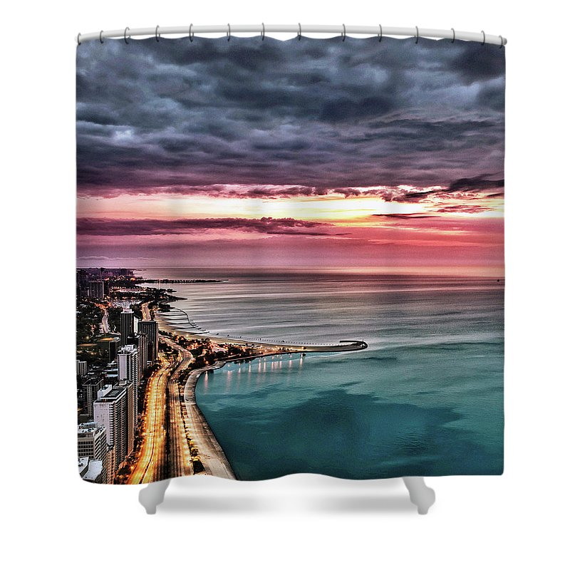 Tranquility Shower Curtain featuring the photograph Sunrise by Jnhphoto